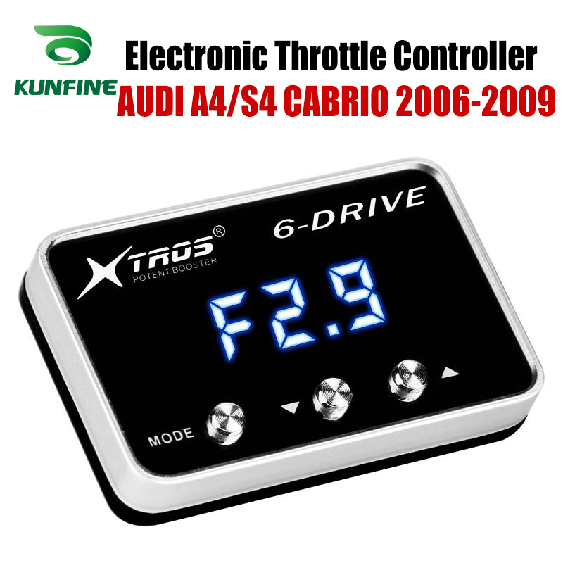 Car Electronic Throttle Controller Racing Accelerator Potent Booster For AUDI A4/S4 CABRIO 2006-2009 Tuning Parts AccessoryCar Electronic Throttle Controller Racing Accelerator Potent Booster For AUDI A4/S4 CABRIO 2006-2009 Tuning Parts Accessory