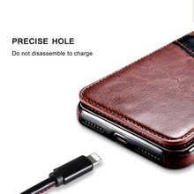 KISSCASE Leather flip Case For iPhone 6 6s 7 Plus Retro Cover Phone Bag Case For iPhone X 7 8 Plus Pouch horse flip case Fundas
