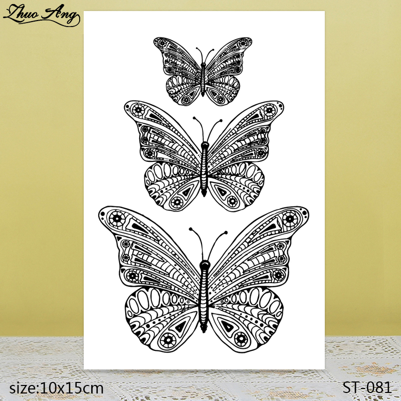 ZhuoAng  Pattern Butterfly Transparent Silicone Stamp / DIY Scrapbook Album Decoration Seal