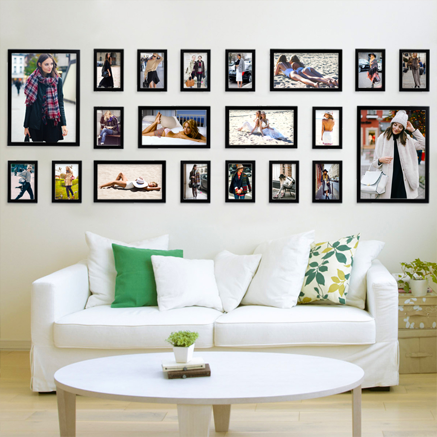 Popular photo frame wall ideas buy cheap photo frame wall for Wall of framed pictures