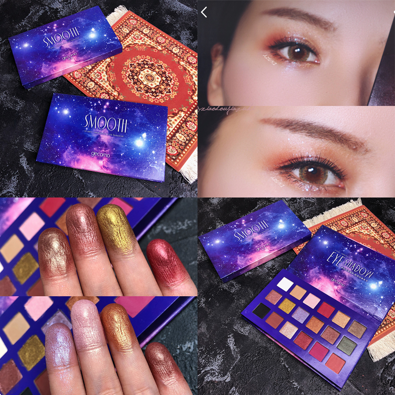 18 Colors Eyeshadow Palette Smoky Shimmer Matte Glitter Eye Shadow Pallete Warm Pigment Eyeshadow Palette Cosmetic Eye Palette in Eye Shadow from Beauty Health
