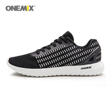 Onemix Men Weave Knit Running Shoes 2019 Sneakers Brand Sport Light Comfortable Outdoor barefoot Walking shoes