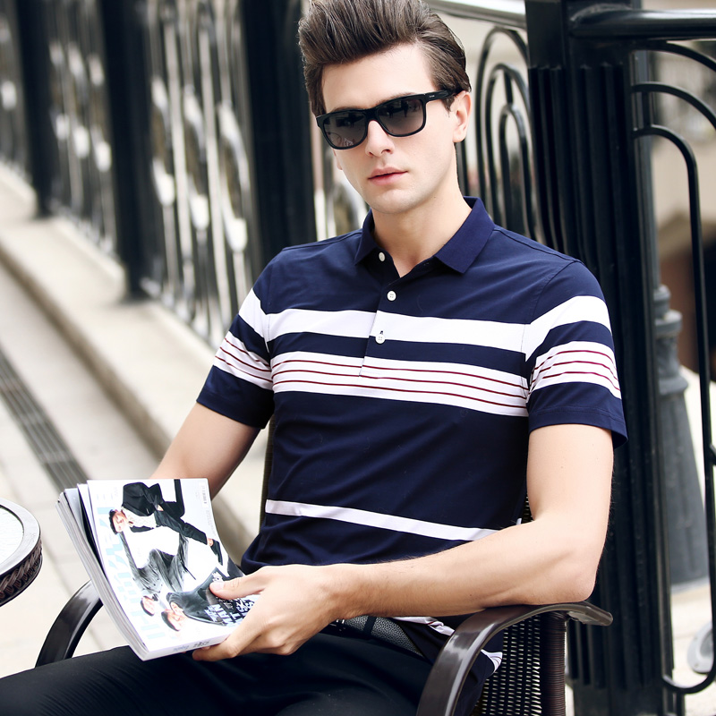 polo   man 2019 short sleeve High quality embroidery striped collar Luxury Brand Tace & Shark camisa men's   polo   shirt business