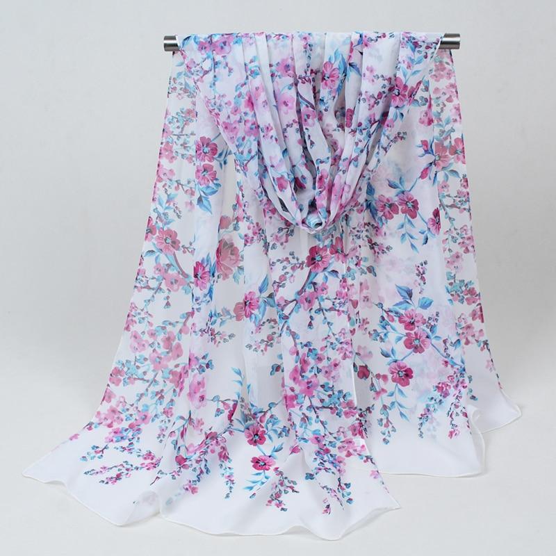 Sciarpe di seta lunghe nuove di modo chiffon 1PC 160cm * 50cm sciarpa - Accessori per vestiti - Fotografia 4