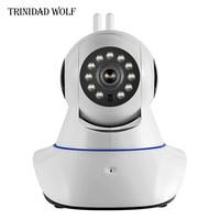 TRINIDAD LUPO Wifi 720 P HD ONVIF IP Camera Doppia Antenna Telecamera di Sorveglianza senza fili Lavora Con Sensore di Allarme Domestico di GSM CCTV fotocamera