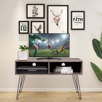 Giantex 42 TV Stand Wood Media Console Entertainment Storage Shelf W/Metal Hairpin Legs Home Furniture HW60466