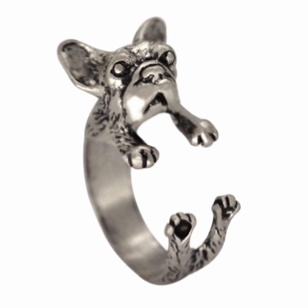 QIAMNI 30 ชิ้น/ล็อตขายส่งกระต่ายสุนัขแมวสิงโตกวางม้าสัตว์แหวนผู้หญิงผู้ชายเครื่องประดับวันเกิดของขวัญปรับแหวน