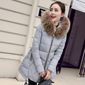 Real fur Wadded  jacket  2016 New Women's Winter Jacket Down  cotton-padded jacket outerwear winter coat women