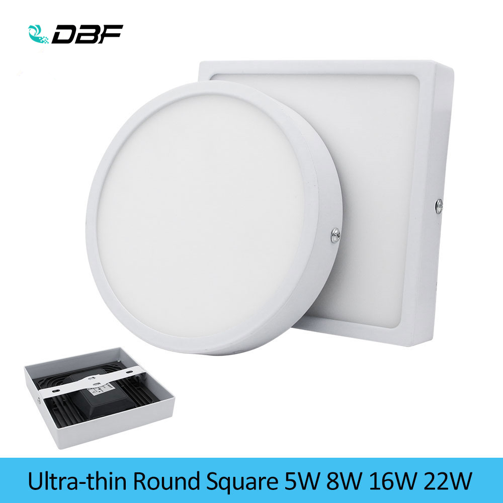 [DBF]5W/8W/16W/22W Round/Square LED Panel Light Surface Mounted Downlight Lighting LED Ceiling Panel Light with AC85-265V Driver[DBF]5W/8W/16W/22W Round/Square LED Panel Light Surface Mounted Downlight Lighting LED Ceiling Panel Light with AC85-265V Driver