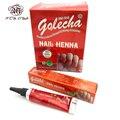 1 pieza indio GOLECHA pasta de Henna arte corporal. mehndi color Henna musulmán esmalte de uñas pasta conos para islámica Natural de arte de uñas