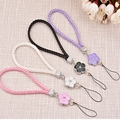 New Weaving flowers Bracelet Strap Lanyard U Disk Holder ID Work Card Mobile Cell Phone Chain Straps Keychain Hang Rope Lariat