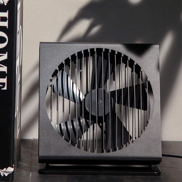 Usb Desk Fan Office Quiet Metal Frame Portable Desktop Table 7 Inch Dual Motor Driver For Home Travel