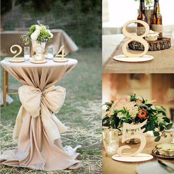 10pcs/set Wooden Number Seat Card  Party Direction Signs Wedding Table number Decoration Dropshipping