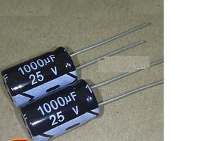 Image 1 - 50PCS/LOT Aluminum electrolytic capacitor 1000uF 25v 10*17 Electrolytic Capacitor 25v 1000uf Hot sale