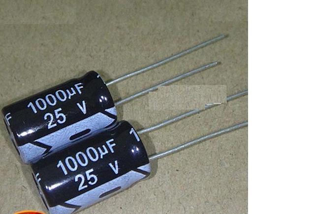 50PCS/LOT Aluminum electrolytic capacitor 1000uF 25v 10*17 Electrolytic Capacitor 25v 1000uf Hot sale