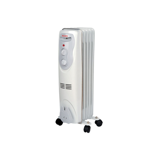 Обогреватель масляный Ресанта ОМ-5Н (Мощность 1000 Вт, 3 режима мощности, регулировка температуры, защита от перегрева, площадь обогрева 10 кв. м)
