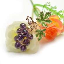 Crystal Grape Brooches for Women