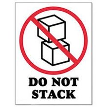 500pcs/lot 9x12cm DO NOT STACK self-adhesive shipping label sticker, Item No.DN28