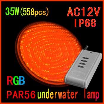 Прямая продажа с фабрики 2014 новейшие светодиодные RGB бассейн 35 Вт (558 шт.) 12 В светодиодные подводные фонари управления Бесплатная доставка