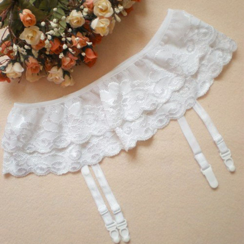 Free Shipping Women Baby font b Dolls b font Sexy Lady 2 Layer Floral Lace Garter