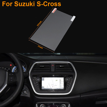 Car Styling 6.5 Inch GPS Navigation Screen Steel Protective Film For Suzuki S-Cross Control of LCD Screen Car Sticker