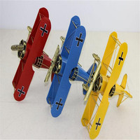 Pure Manual Wrought Iron Biplane Model Retro Photography Props