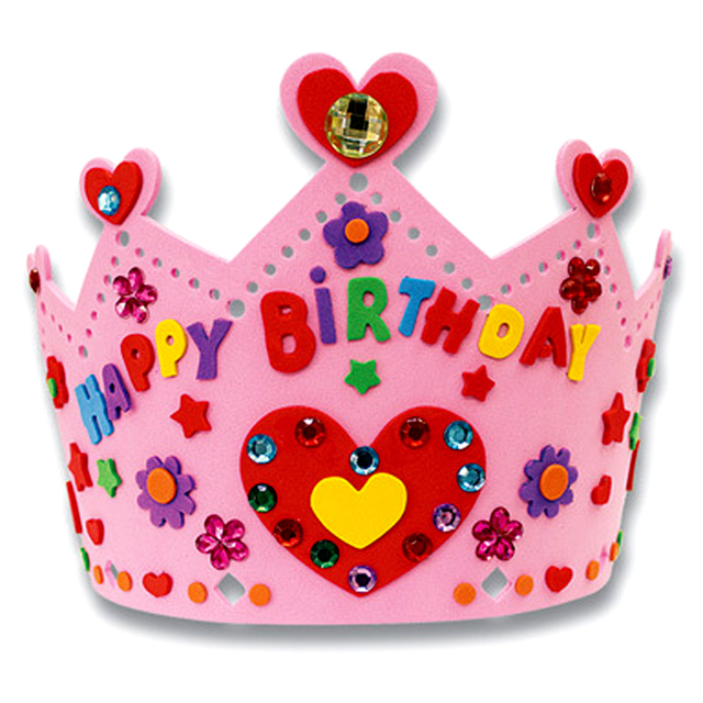 Colorful Birthday Crown DIY Kit