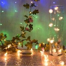 2m 20 Led Light String Lamp Copper Wire Rattan Flower Christmas Decoration Light String Wedding Decoration Party Decoration. Q