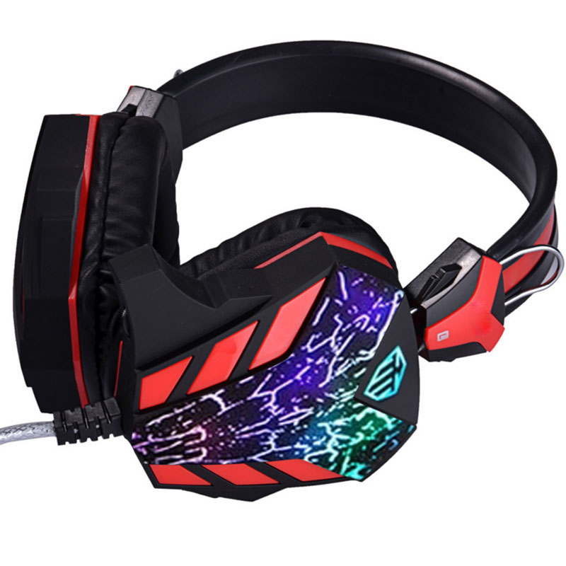 цены NDJU Deep Bass Gaming Headphones LED Light Computer Gamer Player Headsets Best casque with Mic USB 3.5MM plug for PC headphone