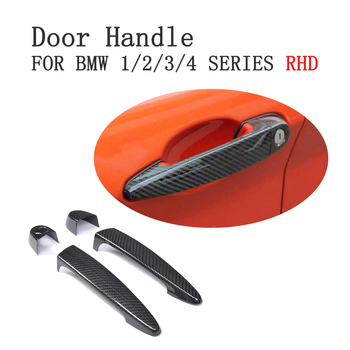 Dla BMW RHD kierownica z włókna węglowego Auto drzwi uchwyty wykończenia gałki pokrowce do BMW 1/2/3/4 serii E90 e92 E93 F30 2005-15 zewnętrznego wystroju