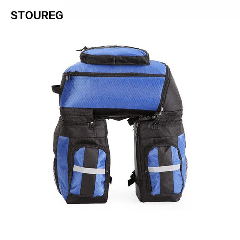 65L Bicycle Bag Mountain Bike Rack Bag 3 In 1 Multifunction Bag Suitcase Bicycle Cycling Rear