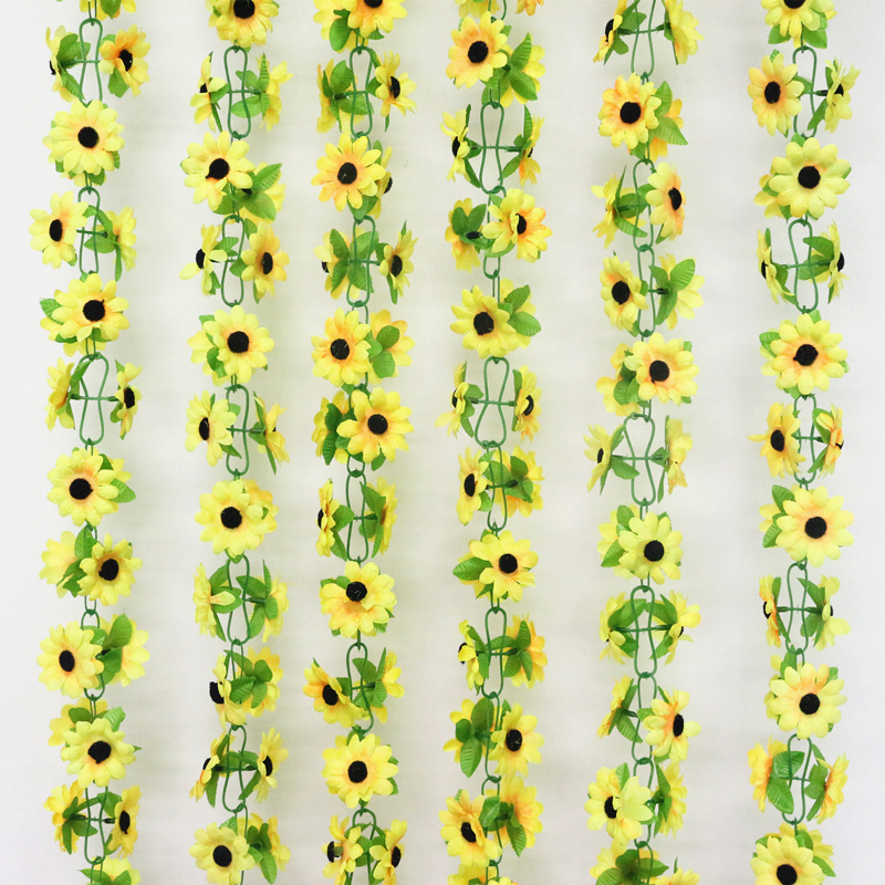 artificial flowers simulation flower cane wholesale Sunflower cane Sunflower cane home flowers decoration (4)