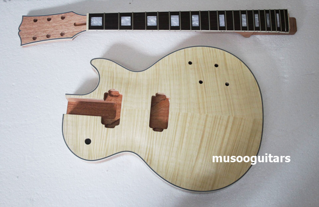 buy musoo brand flame maple venner top electric guitar kit for custom from. Black Bedroom Furniture Sets. Home Design Ideas