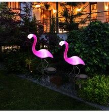 Светодиодный солнечный Фламинго фонарь для столба фонарь на солнечной энергии тропинка огни декоративные наружные газон двор лампа для сада патио