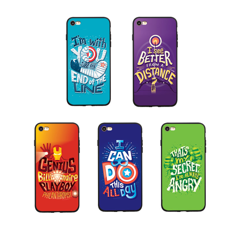 Comic Marvel phone cover case for iPhone 11 PRO X XS MAX XR 10 8 7 6 6S Plus soft matte silicone iron Man Couple cases coque in Fitted Cases from Cellphones Telecommunications