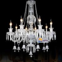 Пентхаус долго хрустальная люстра с колокольчиками cristal Luminaria Роскошные Люстры для гостиной отеля foryer Салон люстра