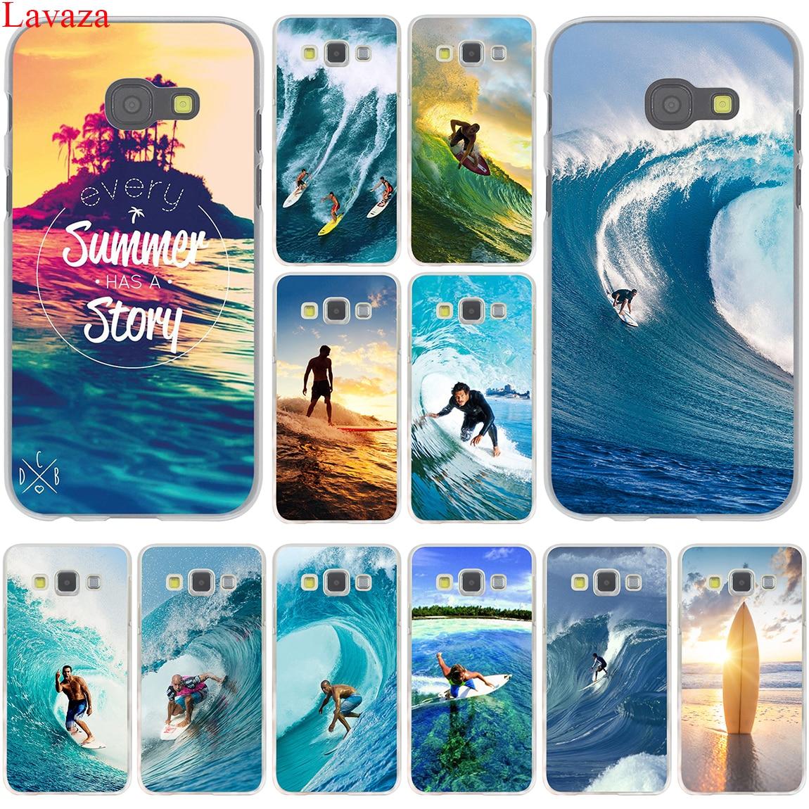 Galleria fotografica Lavaza Sea wave surf summer surfing ocean Hard for Samsung Galaxy A3 A5 A7 A8 2015 2016 2017 2018 Grand Prime Note 8 5 4 3 2