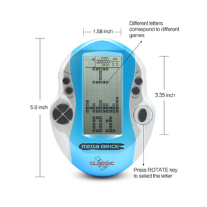 Image 5 - Hot Retro Classic Handheld Tetris Game Console Children Built In 26 Games Large Screen Tetris Game Machine Gift for Kids