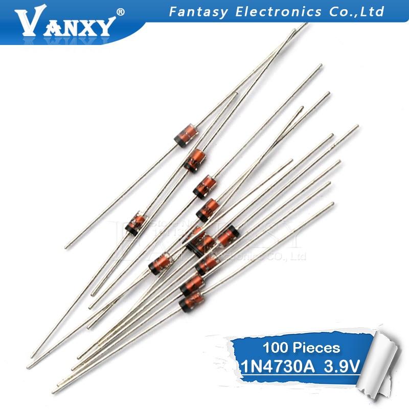 100PCS 1W 3. 9V 1N4730A 3V9 1N4730 DO-41 Zener diode