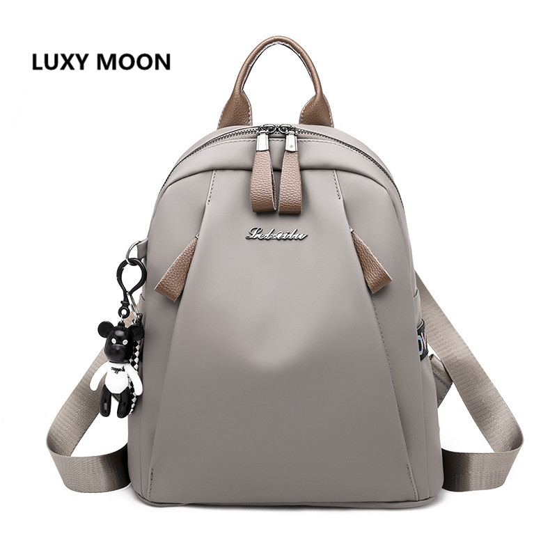 Luxy Moon 2018 New Shoulder Backpack Female Ladies Fashion Trend Bag Korean Version of the Wild Casual Nylon Backpack mshg alligator skin new female bag korean version of the trend of hand painted handbags european and american fashion middle age