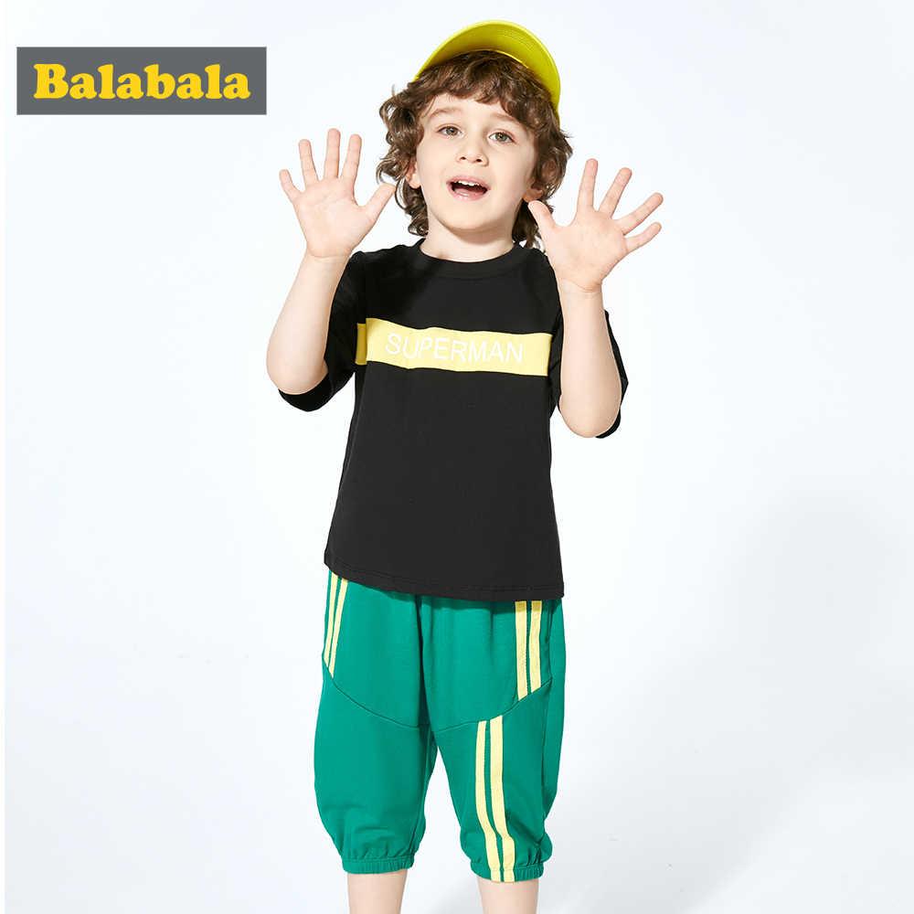 Balabala 2019, conjunto de ropa de verano para bebés, camiseta bonita, pantalones, atuendo de Boutique para niños, ropa para niños pequeños