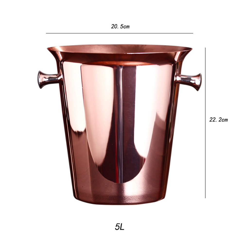 aliexpresscom  buy rose gold ice buckets wine ice bucket l ice  - aliexpresscom  buy rose gold ice buckets wine ice bucket l ice bucketstainless steel wine bottle cooler champagne beer chiller ice barrel fromreliable