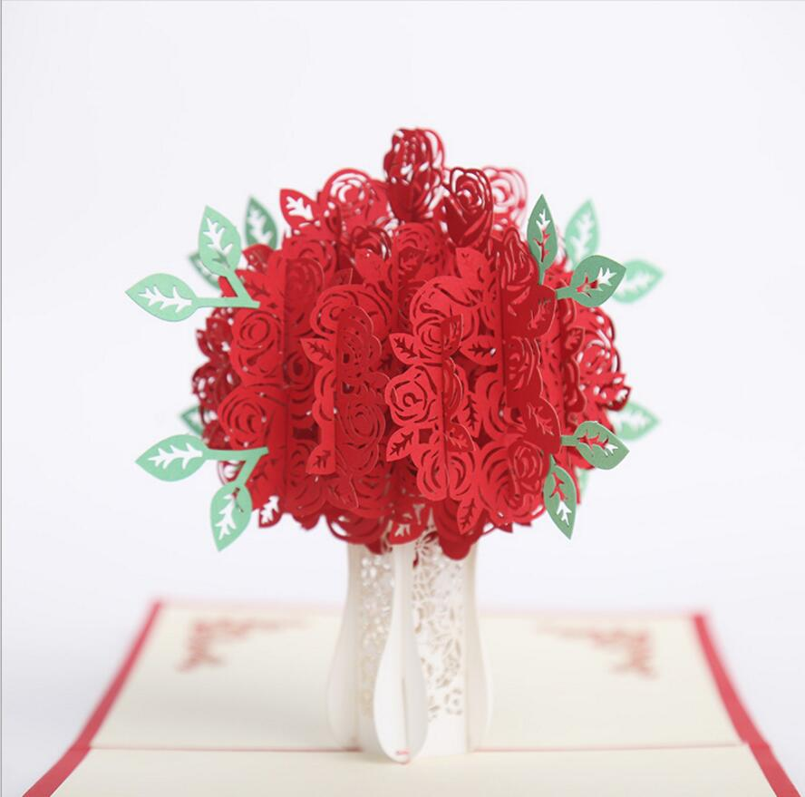 10pcs hollow rose flower handmade kirigami origami 3d pop up 10pcs hollow rose flower handmade kirigami origami 3d pop up greeting cards invitation card for wedding birthday party gift in party favors from home mightylinksfo