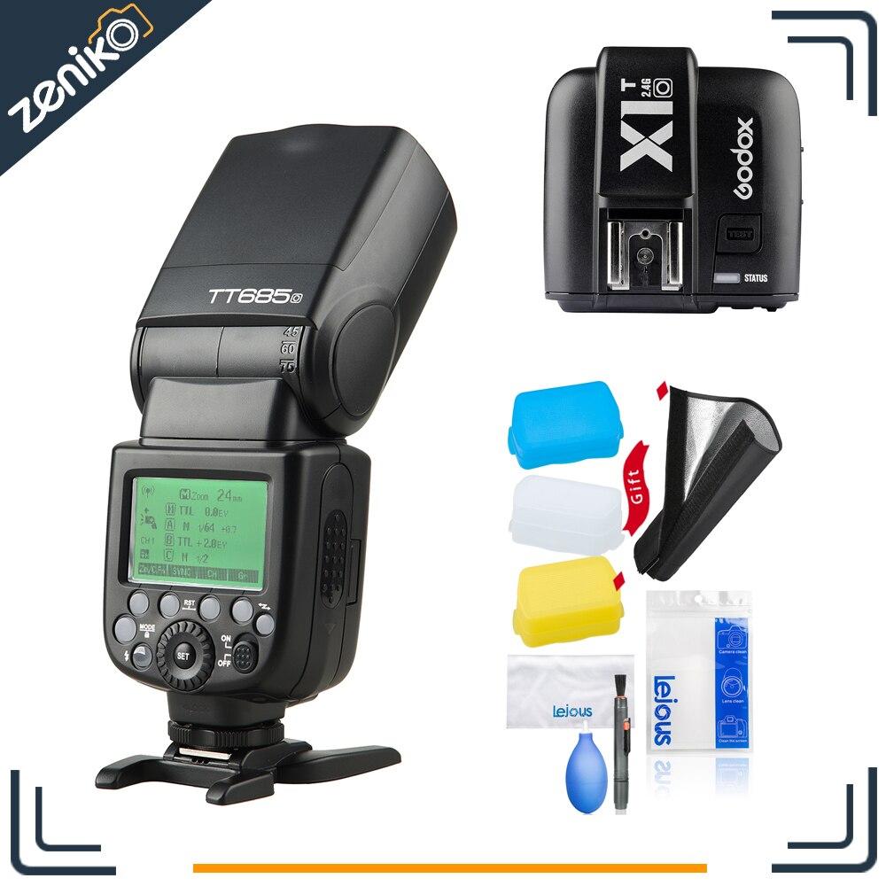 Godox Speedlite Strobe TT685O + X1TO pour Olympus Panasonic Lumix Appareil Photo Flash TTL HSS GN60 Haute Vitesse 2.4G pour E-M10II