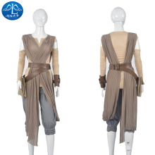 2017 Cosplay Costume Star Wars Rey Roleplay The Force Awakens Dresswomen Cosplay Free Shipment Women Basic цена и фото