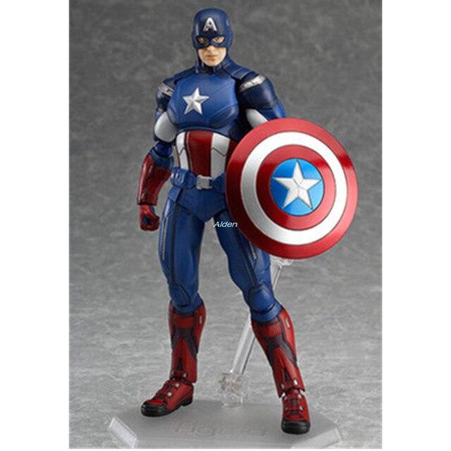 """6 """"os vingadores: endgame Figma #226 Capitão América Superhero Decoração PVC Action Figure Collectible Modelo Toy BOX 16 CM Z1028"""