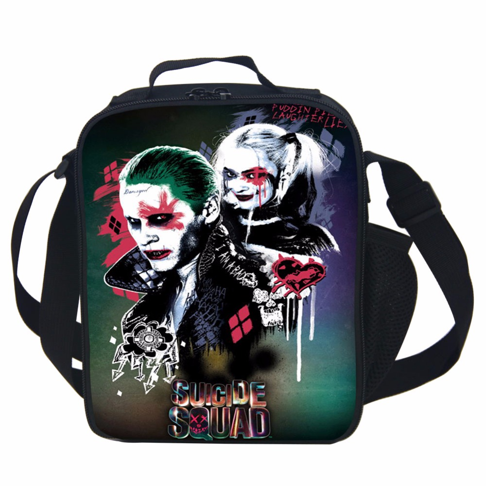 suicide squad lunch bag thermal food picnic lunch bags for women kids men cooler lunch box bag totein lunch bags from luggage u0026 bags on