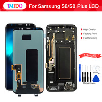 For Samsung galaxy S8 LCD Display Touch Screen Digitizer Assembly For Samsung S8 Plus with Frame G950F G950U G950W8 G955F G955W