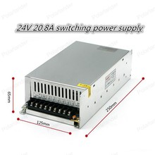 Best quality 24V 20.8A 500W  Switching Power Supply Driver for LED Strip AC 100-200V Input to DC 24V free shipping