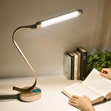 Super Bright LED Lampe de Bureau 15 W Commande à Glissière En Métal Lampe de Table 6-level Luminosité 6 Couleur Modes de Lecture Réglables